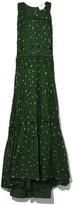 3.1 Phillip Lim Snowbird Print Pintuck Gown in Green/Blush
