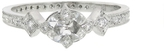 Cathy Waterman Oval Rose Cut Diamond Antique Prong Ring - Platinum