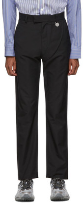 Xander Zhou Black Satin Trousers