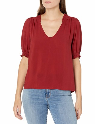 Velvet by Graham & Spencer Women's Trixie Ruffle Shortsleeve Blouse