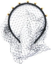 RED Valentino faux pearl net detail headband