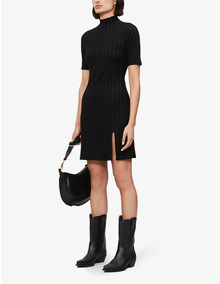 Reformation Dua funnel-neck stretch-jersey mini dress
