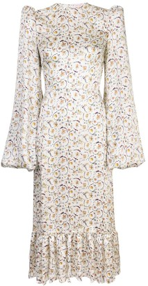 The Vampire's Wife Floral Print Pouf Sleeve Dress