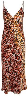 Olivia von Halle Silk Issa Swirl Slip Dress