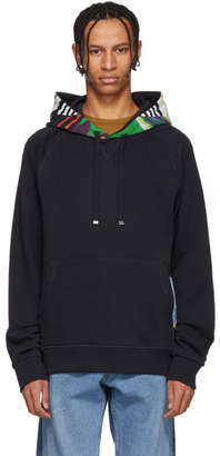 Missoni SSENSE Exclusive Navy Kangaroo Pocket Hoodie