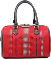 Nicole Lee Red Studded Cora Rounded Satchel