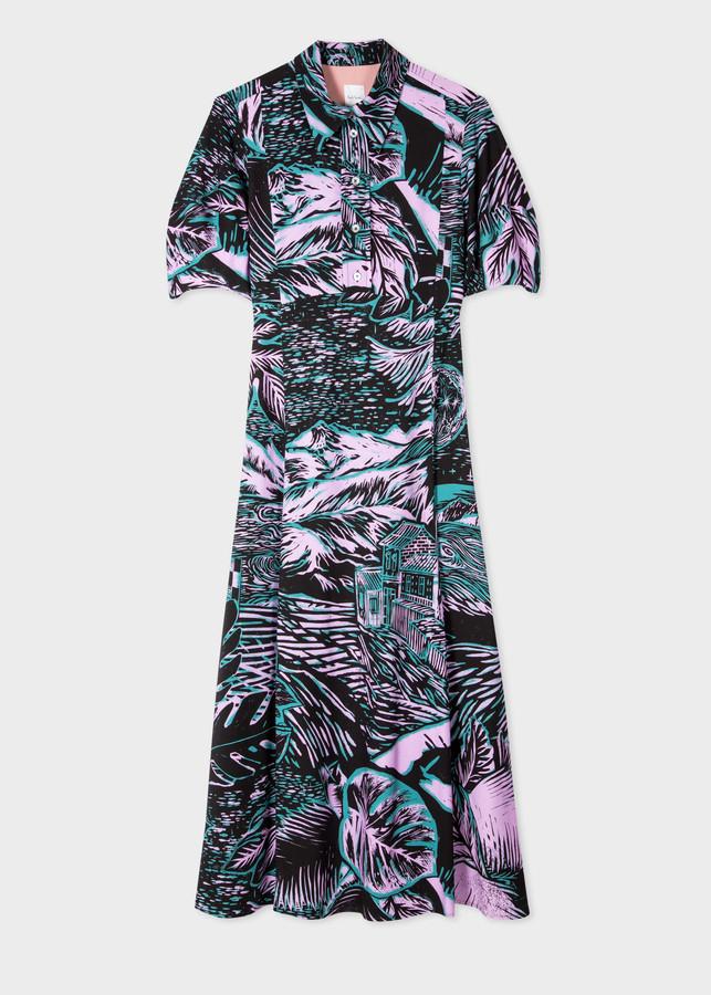Paul Smith Women's 'Chile' Print Shirt Dress