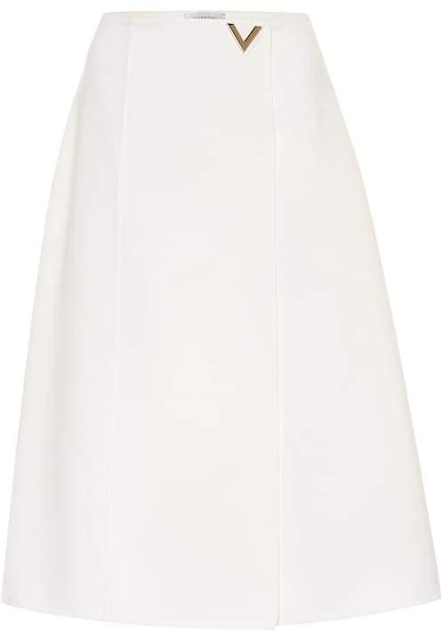 Valentino Wool midi skirt