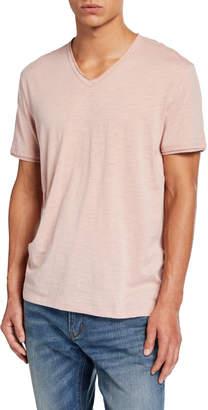 John Varvatos Men's Miles V-Neck Short-Sleeve Slub Cotton T-Shirt