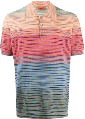 Missoni Abstract Stripe Polo Shirt