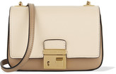 Michael Kors Gia Small Two-tone Leather Shoulder Bag - Ecru