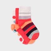 Paul Smith Girls' 7+ Years' Multi-Colour 'Rainbow, Spot And Stripe' Sock Set