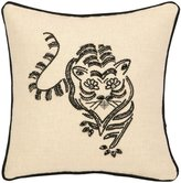 Nanette Lepore Tiger Beaded Embroidered Pillow