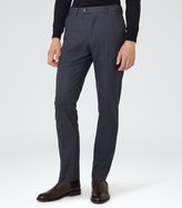 Reiss Reiss Hudson - Brushed Tailored Trousers In Blue