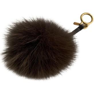 Fendi Pompon Brown Faux fur Bag charms