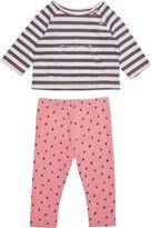 Peek Aren't You Curious Magnolia Stripe & Dot Shirt & Pants Set