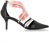 Pierre Hardy Black and Blush Leather and PVC Shades Pump