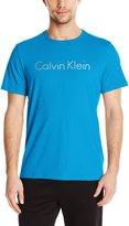 Calvin Klein Men's Short Sleeve Crew Neck Tee with Space Dyed Logo