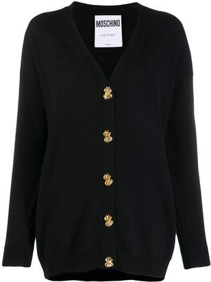 Moschino button-down fine knit cardigan