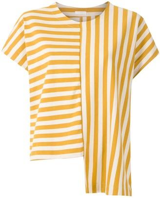 OSKLEN Summer Stripe asymmetric blouse