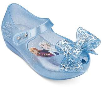 Mini Melissa Girls' Ultragirl x Disney Frozen Mary Jane Flats - Walker, Toddler