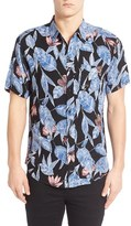 Imperial Motion Men's 'Alta' Floral & Leaf Print Short Sleeve Woven Shirt