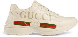 Gucci Women's Rhyton logo leather sneaker
