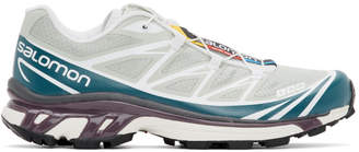 Salomon Green and Blue Limited Edition XT-6 ADV Sneakers