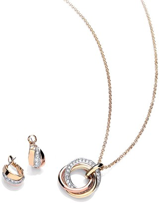 Buckley London Russian Sparkle Pendant and Earrings Jewellery Set withFREE Gift Bag