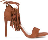 Stuart Weitzman fringed trim sandals
