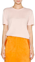 Tomas Maier Cashmere Crewneck Short-Sleeve Sweater, Pink