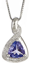 JCPenney FINE JEWELRY LIMITED QUANTITIES Trillion-Cut Genuine Tanzanite and 1/10 CT. T.W. Diamond Pendant Necklace