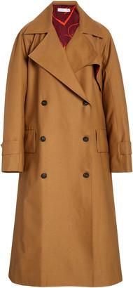 Victoria Beckham Flared Cotton-Blend Trench Coat