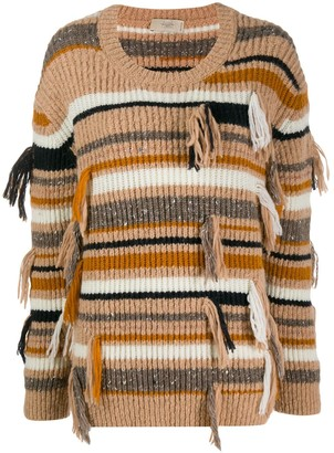 Maison Flaneur Ribbed Striped Jumper