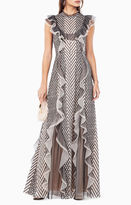 BCBGMAXAZRIA Cloe Embroidered Gown