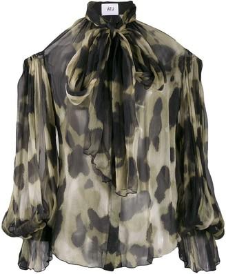 Couture Atu Body animal print blouse