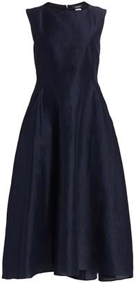 Max Mara Veneto Sleeveless Boatneck Midi Dress