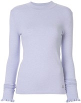 Emilio Pucci ruffled detail knitted jumper