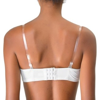 Unique Bargains Clear Bra Straps Replacement Invisible Bra Shoulder Strap Width: 1.8cm 3 pairs