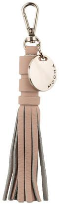 Mocha Mia Leather Tassel Keyring - Light Blush