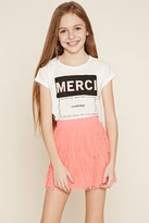 Forever 21 FOREVER 21+ Girls Fringed Skirt (Kids)