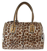 B. Makowsky Animal Printed Luxe Leather East/West Satchel