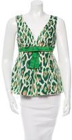 Christian Dior Silk Leopard Print Top