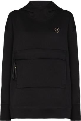 adidas by Stella McCartney Logo-Print Long-Sleeve Hoodie