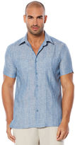 Cubavera 100% Linen Short Sleeve Tucks 2 Pocket Shirt