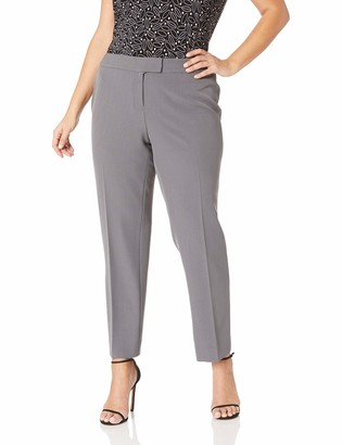 Anne Klein Women's Size Plus Crepe Slim Pant