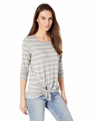 Karen Kane Women's Stripe Side-TIE TOP Large