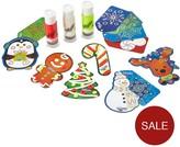 "Doh Vinci Doh Vinci ""3 Pack Set "" Ornament Kit With2x Gift Tag Kits"