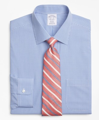 Brooks Brothers Regent Fitted Dress Shirt, Non-Iron Micro-Framed Gingham
