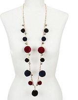 Natasha Accessories Long Pom-Pom Necklace